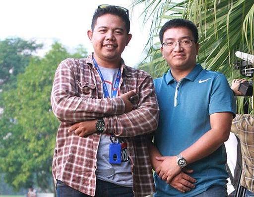 Phóng viên Shana (trái) tin rằng năm nay Indonesia sẽ chấm dứt được cơn khát danh hiệu AFF Cup. Ảnh: Lâm Thỏa