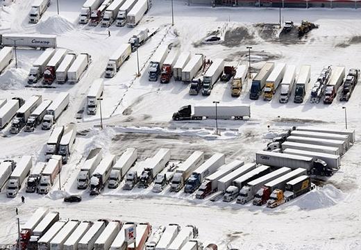 Xe tải chết dí tại chỗ ở Cheektowaga, ngoại ô Buffalo, New York.