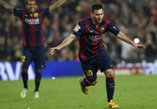 Messi trở thành cầu thủ ghi bàn số một Liga khi mới 27 tuổi. Ảnh: AFP