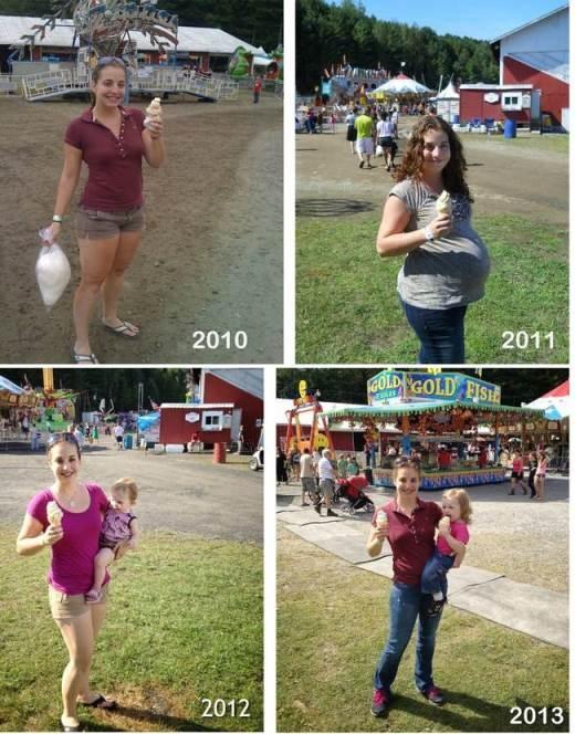 Sở thích ăn kem của bà mẹ trẻ vẫn không hề thay đổi