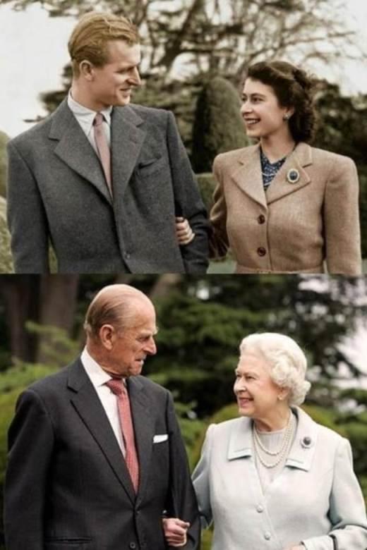 Hoàng tử Philip và Nữ hoàng Elizabeth đệ nhị vẫn nhìn nhau bằng ánh mắt ấy, trao nhau nụ cười ấy sau 65 năm