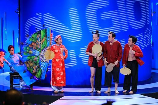 Mở màn là tiết mục của 5 trưởng phòng Việt Hương, Minh Nhí, Chí Tài, Trấn Thành, Trường Giang - Tin sao Viet - Tin tuc sao Viet - Scandal sao Viet - Tin tuc cua Sao - Tin cua Sao