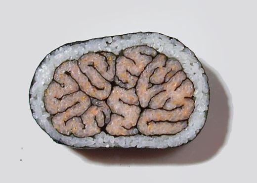 Nhìn đơn giản vậy thôi chứ món sushi não này rất khó thực hiện đấy