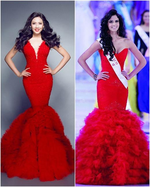 Bộ trang phục dạ hội của Nguyễn Thị Loan được cho là giống bộ trang phục của hoa hậu Mexico 2012 - Tin sao Viet - Tin tuc sao Viet - Scandal sao Viet - Tin tuc cua Sao - Tin cua Sao