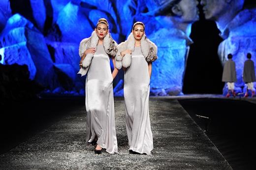 Siêu mẫu Hoàng Yến hóa chị em sinh đôi với Thanh Hoài