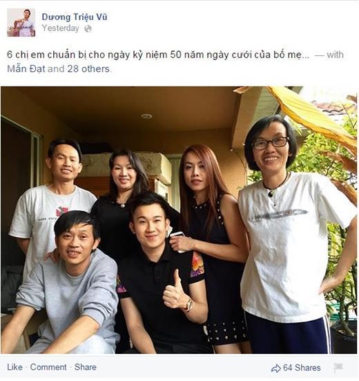 Dương Triệu Vũ đã khoe bức ảnh chụp 6 chị em trong gia đình chuẩn bị cho buổi tiệc - Tin sao Viet - Tin tuc sao Viet - Scandal sao Viet - Tin tuc cua Sao - Tin cua Sao