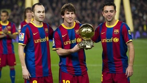Vốn là thiên tài, Messi lại được thi đấu trong thời kỳ hoàng kim của Barca. Ảnh: Internet.