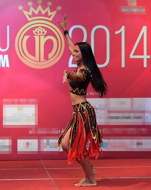 Đêm sơ khảo tài năng Hoa hậu Việt Nam 2014 đã trở thành sân khấu hội tụ đầy đủ nét văn hoá của mọi miền đất nước từ Bắc vào Nam, từ Tây Nguyên đến Tây Nam Bộ, hay cả miền núi phía Bắc.