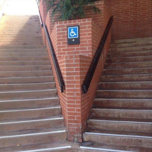 Người đi xe lăn sẽ đi được lối này?