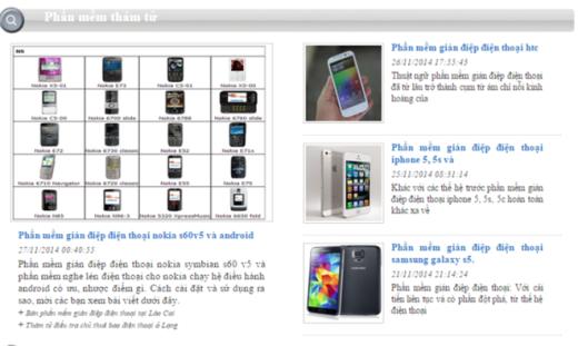 Những phần mềm thám tử có thể dùng được trên bất kì dòng điện thoại nào.