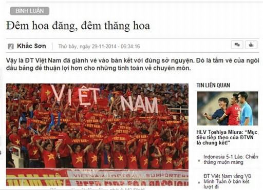 Bài bình luận về đêm Mỹ Đình thăng hoa của nhà báo Khắc Sơn