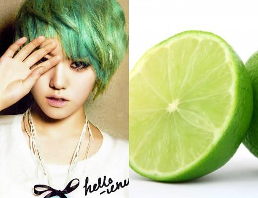 Màu tóc của Lime (Hello Venus) không khác gì quả chanh