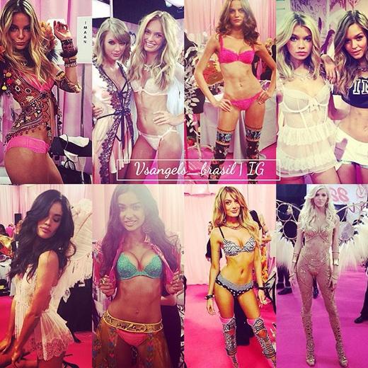 Người mẫu nội y trong các bộ sưu tập được trình diễn tại Victoria's Secret Fashion show 2014