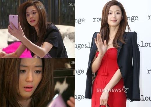 """""""Cô nàng ngổ ngáo"""" quý phái, sang trọng Jun Ji Hyun đã hóa thân thành công hình tượng 'minh tinh trái đất' Chun Song Yi ngốc nghếch, đáng yêu và cũng rất bản lĩnh của bộ phim đình đám You Came From The Stars."""