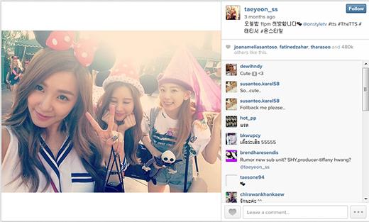 Hình ảnh được nhiều người thích nhất trên Instagram của Taeyeon