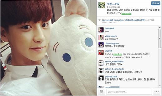 Hình ảnh được nhiều người thích nhất trên Instagram của Chanyeol