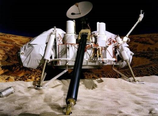 Mô phỏng thiết bị đổ bộ Viking trên bề mặt sao Hỏa. Ảnh: NASA