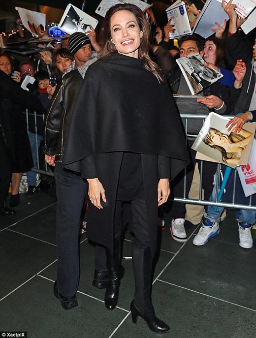Nữ diễn viên có mặt tại New York để quảng bá cho bộ phim