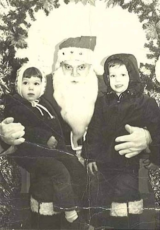 Hãy nhìn vào đôi mắt của ông già Noel