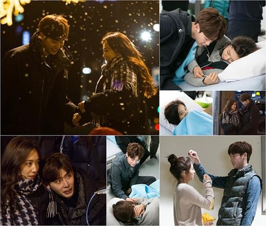 Park Shin Hye và Lee Jong Suk thân mật đằng sau máy quay