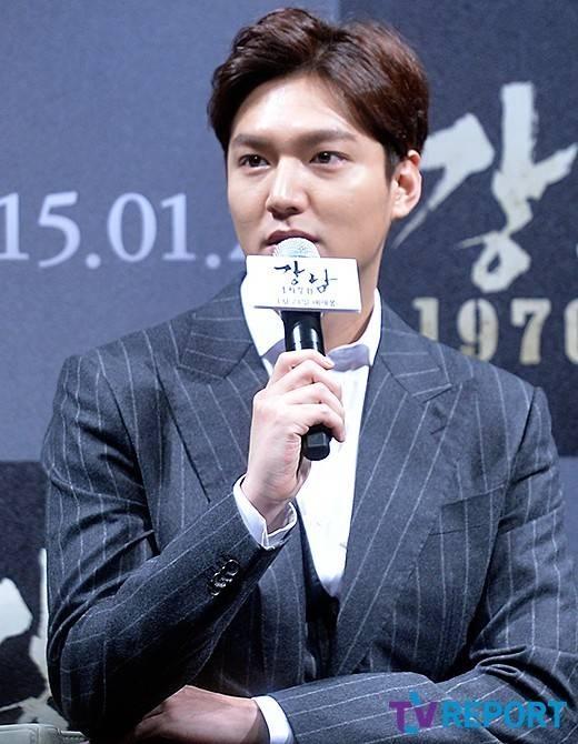 Một số hình ảnh của Lee Min Ho trong buổi họp báo
