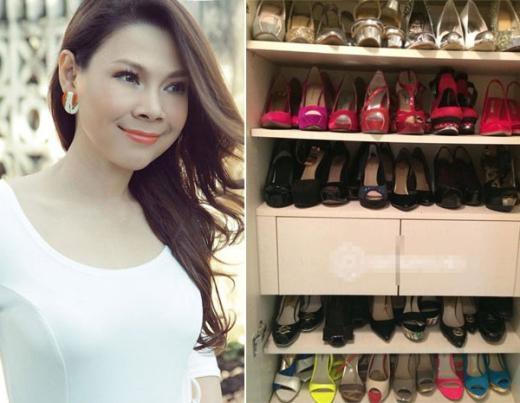 'Búp bê' Thanh Thảo thường thích những đôi giày, xăng đan cao gót. - Tin sao Viet - Tin tuc sao Viet - Scandal sao Viet - Tin tuc cua Sao - Tin cua Sao