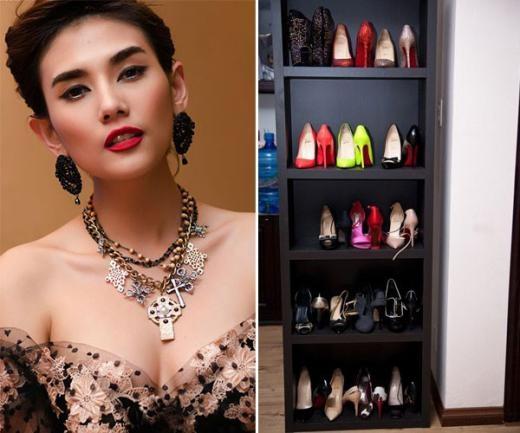 Tủ giày nhỏ xinh của Hoàng Yến. - Tin sao Viet - Tin tuc sao Viet - Scandal sao Viet - Tin tuc cua Sao - Tin cua Sao