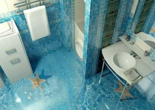 Không gian phòng tắm tươi mát, vào rồi chẳng muốn ra...