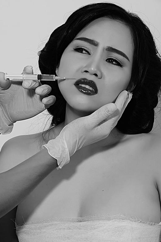 Trương Phương tái hiện cảm giác đau đơn khi bơm môi