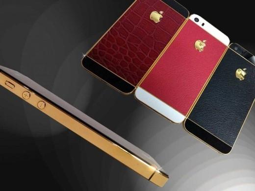 Tại Anh, Goldstriker cho chế tác những chiếc iPhone 5S mạ vàng, bọc da thật ở mặt sau. Giá bán của mỗi chiếc iPhone như vậy không dưới 5.900 USD.