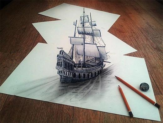 Nghệ thuật vẽ tranh 3D cực kì độc đáo