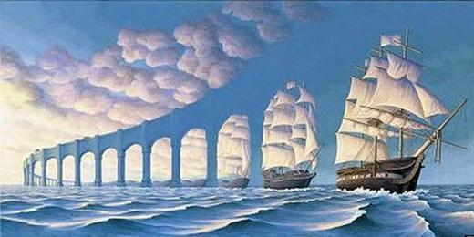 Là con tàu hay là một bức tường thành ngay giữa biển?