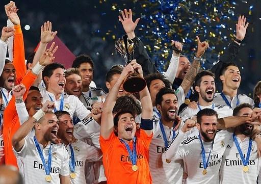 Real Madrid giành chiếc cúp vô địch giải Club World Cup 2014.