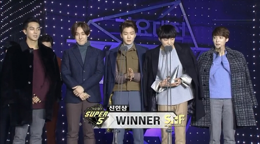 Winner nhận được giải thưởng Tân binh xuất sắc nhất (Best Rookie)