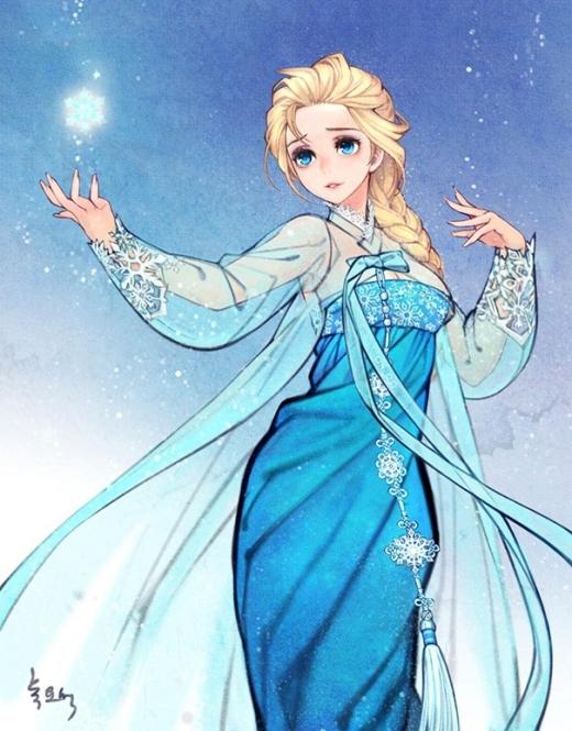 Nữ hoàng băng giá Elsa châu Á với trang phục thậm chí cầu kỳ hơn cả bản gốc