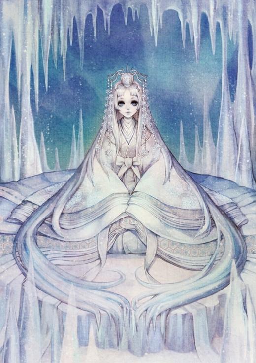 Nữ chúa tuyết có vẻ trẻ con hơn so với phiên bản gốc