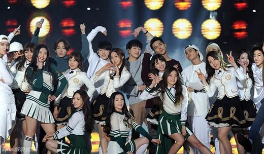 Red Velvet, GOT7, Lovelyz, Winner