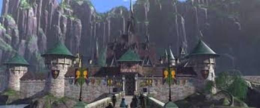 Lâu đài của Elsa và Anna trong phim.