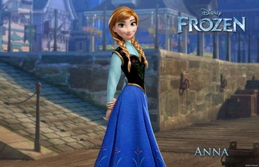 Trang phục của Anna được lấy cảm hứng từ trang phục truyền thống của các cô gái Na Uy.