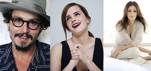 Nam diễn viên yêu thích của Emma là Johnny Depp trong khi nữ diễn viên yêu thích của cô nàng là Julia Roberts.