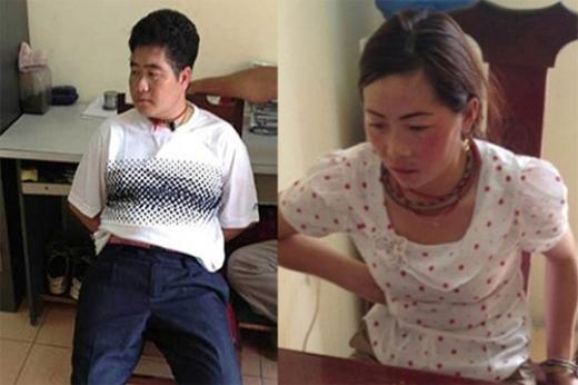 Tráng A Tàng và vợ Giàng Thị Sua.