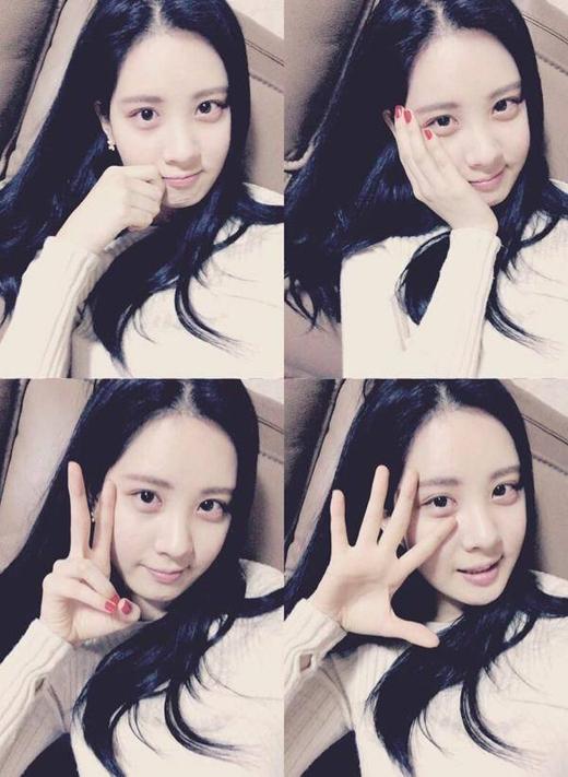 Seohyun bất ngờ khoe mặt mộc và chia sẻ: 'Vừa mới tập luyện cho nhạc kịch. Không còn bao lâu nữa là đến buổi trình diễn rồi. Mình cảm nhận được năng lượng rất tốt trong quá trình tập luyện. Xin hãy mong chờ vở nhạc kịch này nhé'.