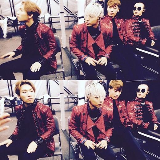 Em út Seungri khoe hình Big Bang 'mỗi người một vẻ' trong hậu trường trước giờ biểu diễn khiến fan vô cùng thích thú.