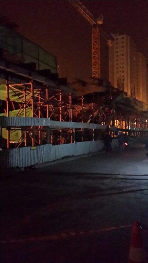 Toàn cảnh vụ tai nạn vào rạng sáng 28/12. Ảnh: Kien Sango