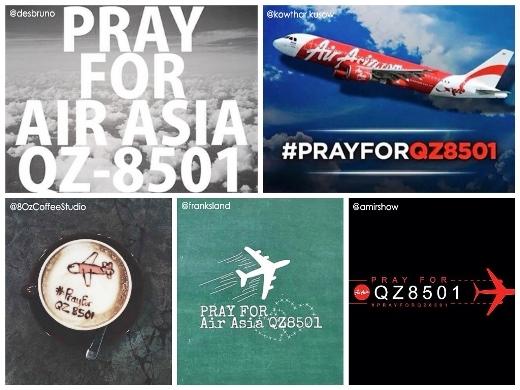 Những hình ảnh cầu nguyện cho chiếc máy bay QZ8501 của cư dân mạng thế giới