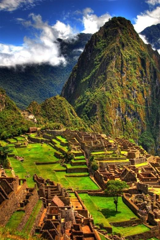 Tàn tích ở Machu Picchu, Peru