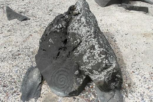 Bãi biển tranh đá, Alaska (Mỹ): Nơi đây có hơn 40 bức họa khắc trên đá. Các nhà khoa học cho rằng, các bức tranh đá này có lịch sử hơn 8000 năm, do người Tlingit ghi khắc lại những hình ảnh về chim, cá, ốc, mặt người,... Thủy triều xuống là lúc ngắm tranh rõ nhất.