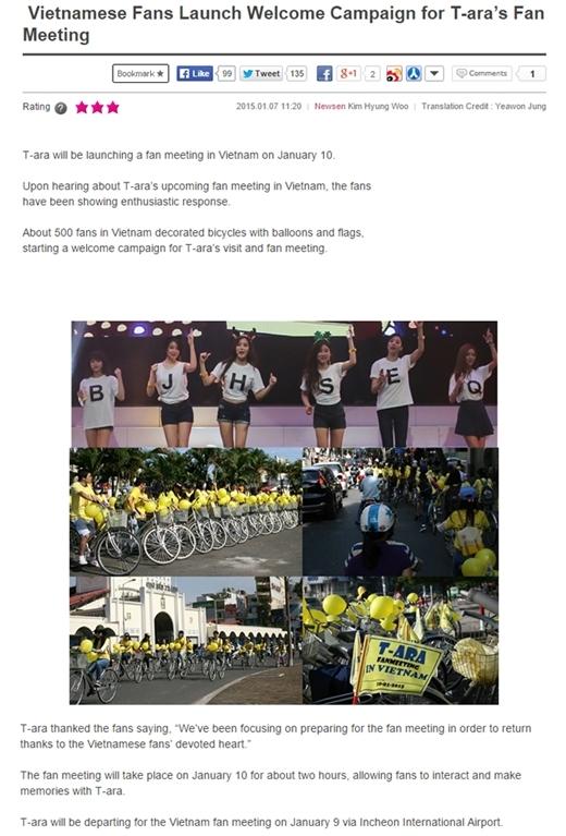Một số trang tin uy tín của Hàn Quốc đồng loạt đưa tin tức, hình ảnh của các Queen's Việt đã chuẩn bị cho buổi fan meeting của T-ara sắp diễn ra vào ngày 10/1. - Tin sao Viet - Tin tuc sao Viet - Scandal sao Viet - Tin tuc cua Sao - Tin cua Sao