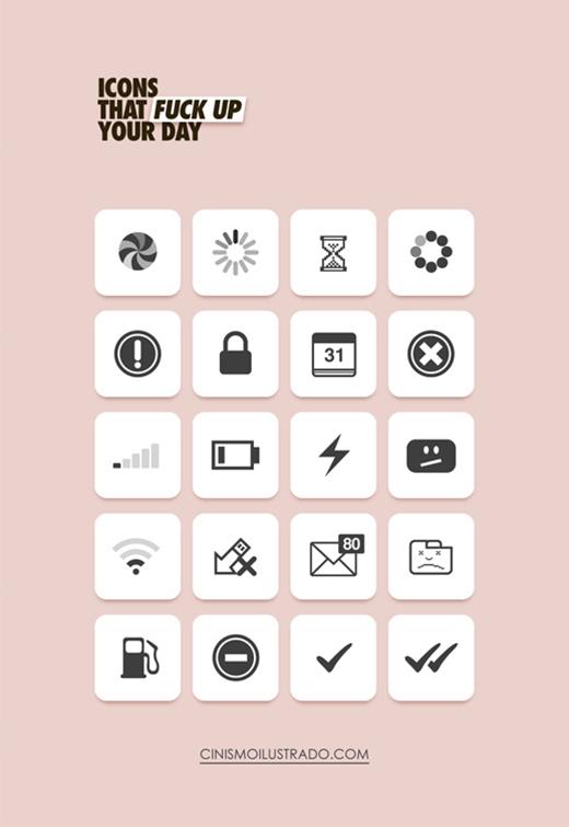 Bao nhiêu trong số các icon ở đây đã khiến bạn gần như 'phát điên'?