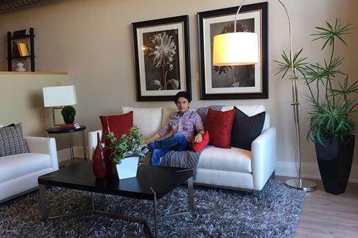 Cả 2 vợ chồng đều yêu thiên nhiên nên trong nhà lúc nào cũng có những chậu cây decor... - Tin sao Viet - Tin tuc sao Viet - Scandal sao Viet - Tin tuc cua Sao - Tin cua Sao